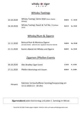 aktuelle Veranstaltungen