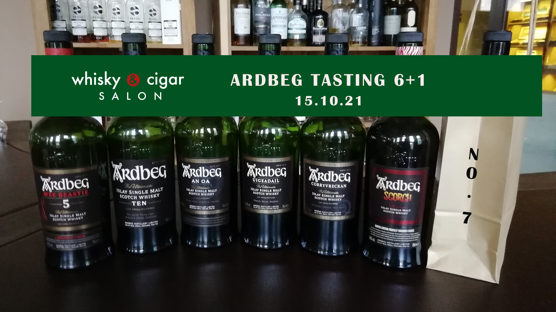 Ardbeg tasting line-up