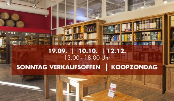 Verkaufsoffener Sonntag-Koopzondag 2021
