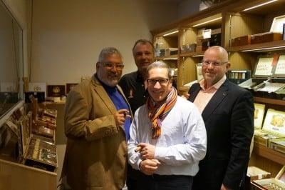 A. Rubin & G. Sosa im whisky & cigar salon